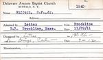 Gifford, M. OP by Delaware Avenue Baptist Church
