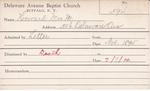 Howard, Mrs. M by Delaware Avenue Baptist Church