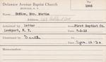 Harlow, Mrs. Martha by Delaware Avenue Baptist Church