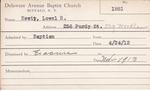 Hewit, Mr. Lowel R by Delaware Avenue Baptist Church