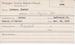 Johnson, Mr. Howard by Delaware Avenue Baptist Church