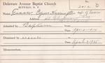 Fraser, Mr. Cyrus Harington by Delaware Avenue Baptist Church