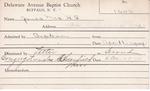 James, Mrs. HS by Delaware Avenue Baptist Church