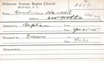 Goodwin, Mr. Harold R by Delaware Avenue Baptist Church