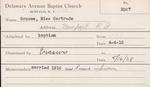 Groom, Miss. Gertrude by Delaware Avenue Baptist Church