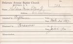 Holden, Miss. Ellen G by Delaware Avenue Baptist Church