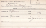 Holden, Miss. Mary L by Delaware Avenue Baptist Church