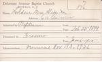 Holden, Mrs. Alice M by Delaware Avenue Baptist Church