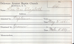 Allen, Miss. Mabel by Delaware Avenue Baptist Church