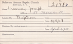 Freeman, Mr. Joseph by Delaware Avenue Baptist Church