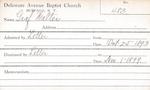 Graham, Miss. Clara by Delaware Avenue Baptist Church