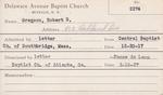 Gregson, Mr. Robert B by Delaware Avenue Baptist Church