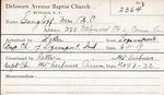 Gangloff, Mrs. WC by Delaware Avenue Baptist Church