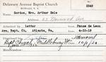 Gordon, Mrs. Arthur Hale by Delaware Avenue Baptist Church