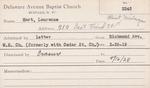 Hart, Mr. Laurence by Delaware Avenue Baptist Church