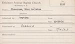 Zimmerman, Mrs. Mary by Delaware Avenue Baptist Church