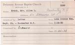 Brack, Mrs. Allan by Delaware Avenue Baptist Church