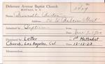 Brownell, Mr. Burton by Delaware Avenue Baptist Church