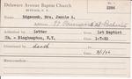 Edgecomb, Mrs. Jennie A