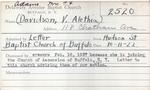 Adams, Mr. JT by Delaware Avenue Baptist Church
