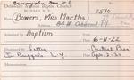 Bowers, Miss. Martha by Delaware Avenue Baptist Church