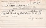 Davidson, Mr. Simon P