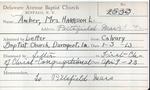 Amber, Mrs. Harrison by Delaware Avenue Baptist Church