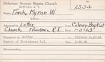 Finch, Mr. Myron  W