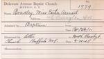 Bradley, Miss Ester Asenath by Delaware Avenue Baptist Church