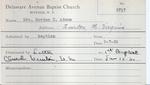 Adams, Mrs. Gordon by Delaware Avenue Baptist Church