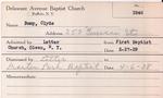 Bump, Mr. Clyde by Delaware Avenue Baptist Church
