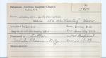 Adams, Mrs. Earl Frederick by Delaware Avenue Baptist Church