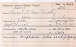 Churchill, Miss. Dorothy by Delaware Avenue Baptist Church