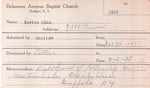 Burton, Mr. Alan by Delaware Avenue Baptist Church