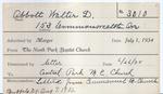 Abbott, Mr. Walter by Delaware Avenue Baptist Church