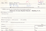 Bietz, Mr. Donald by Delaware Avenue Baptist Church