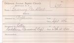 Bruring, Mrs. Albert by Delaware Avenue Baptist Church