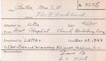 Butler, Mrs. T F by Delaware Avenue Baptist Church