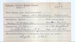 Adams, Mr. Earl Frederick by Delaware Avenue Baptist Church