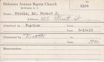 Steele, Mr. Howard J by Delaware Avenue Baptist Church