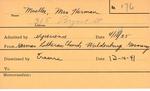 Mueller, Mrs. Herman by Delaware Avenue Baptist Church