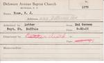 Roos, M. WJ by Delaware Avenue Baptist Church