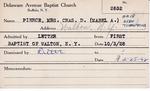 Pierce, Mrs. Mabel A by Delaware Avenue Baptist Church