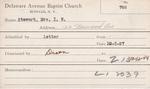 Stewart, M. I N by Delaware Avenue Baptist Church