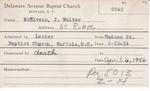 McElvein, Mr. Walter by Delaware Avenue Baptist Church