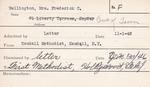 Wellington, Mrs. Frederick C by Delaware Avenue Baptist Church