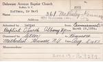 Hoffman, Mr. Karl by Delaware Avenue Baptist Church