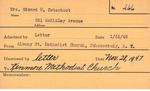 Osterhout, Mrs. Edward H by Delaware Avenue Baptist Church
