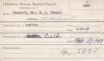 Stafford, Ms. Maude by Delaware Avenue Baptist Church