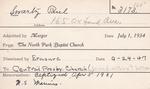 Swartz, Mr. Paul by Delaware Avenue Baptist Church